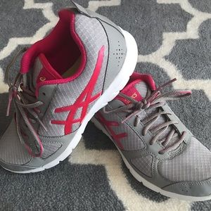 ASICS Grey and Pink Sneakers